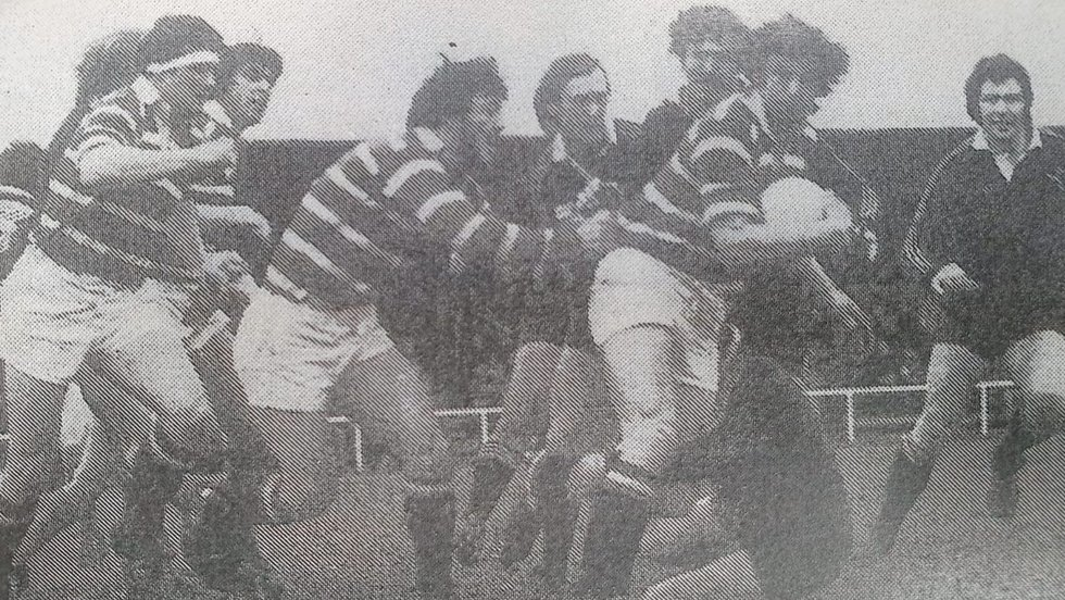 Tigers forwards in action against Wasps during the club's 43-7 John Player Cup semi-final win