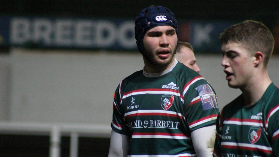 George Martin made his senior Tigers debut earlier this season, against Worcester in the Premiership Rugby Cup.