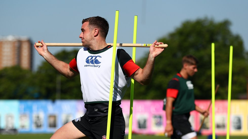 George Ford puts in the hard work during England training camp