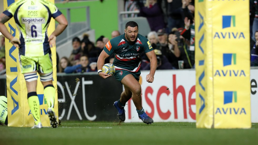 Ellis Genge dots down his first try of the season in the win on Sunday