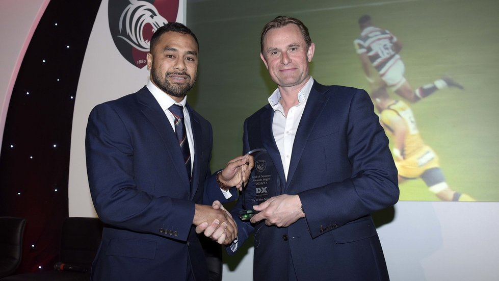 Telusa Veainu won the Try of the Season award in 2016/17 for his score against Worcester Warriors