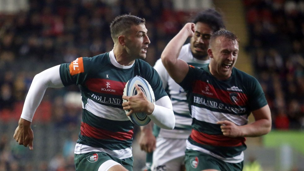 Jonny May on his way to the try-line for Tigers in the pre-season win over London Irish