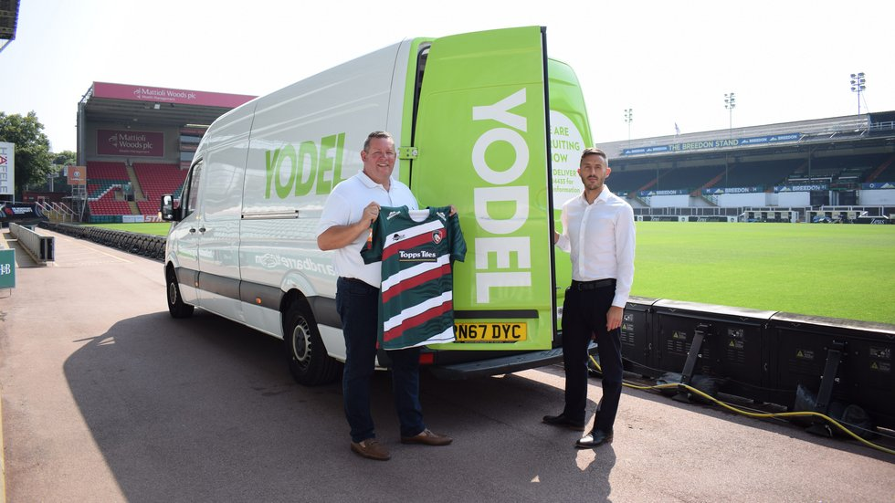 Marc Jiggins, director of client management at Yodel, and Mark Davies, Tigers' head of business development
