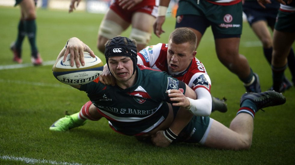 Charlie Thacker scored his first senior try in the Cup win over Gloucester