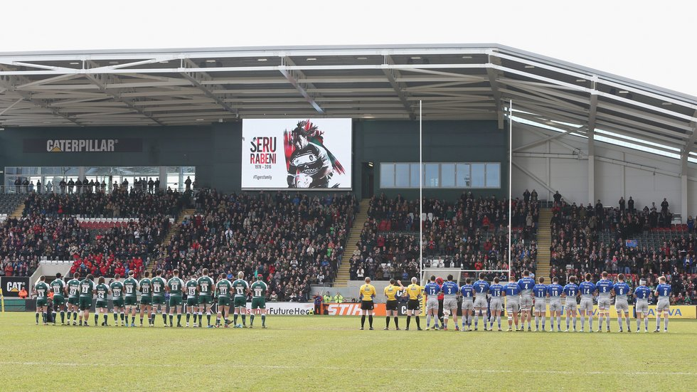 Tributes were paid to Seru at Welford Road after his death in 2016