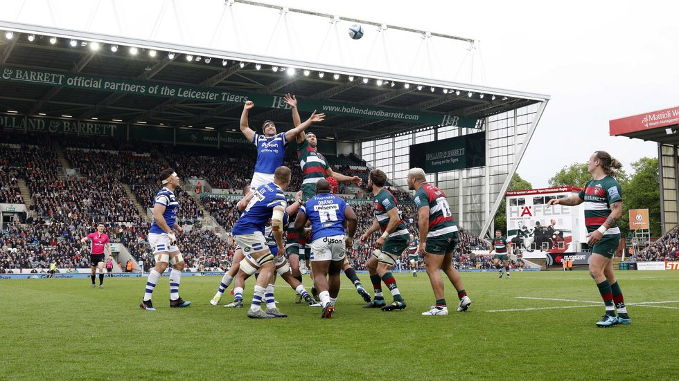 Bath have been regular rivals at Welford Road for more than a century