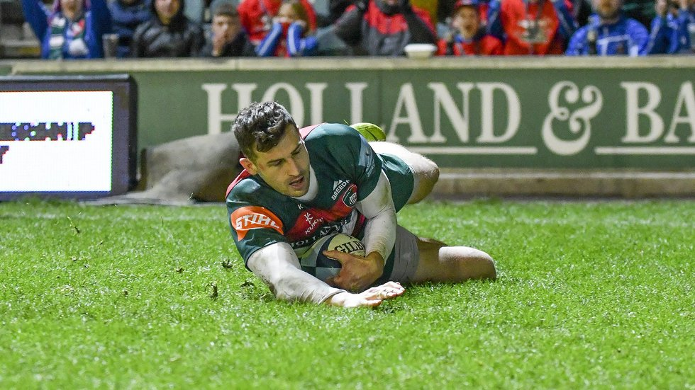 Jonny May has 10 tries in 14 appearances on the wing for Leicester this season