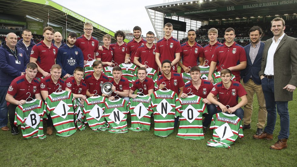 The Tigers academy group were welcomed by a big home crowd at Welford Road