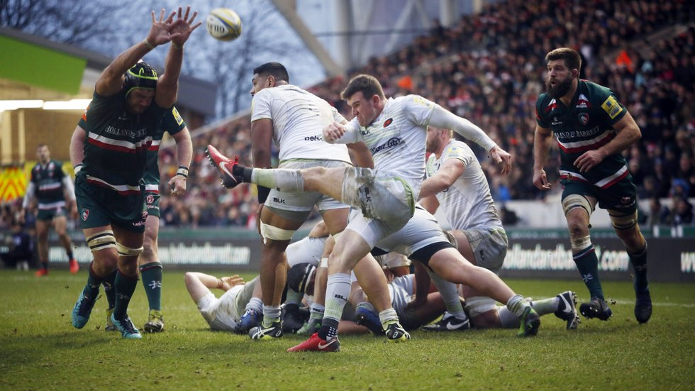 Saracens triumphed at Welford Road during 2017/18 and are unbeaten in the league so far this season