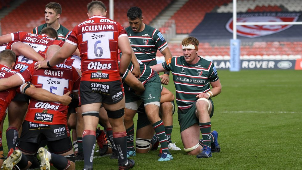 Ollie Chessum made his club debut in an inexperienced Tigers team at Kingsholm