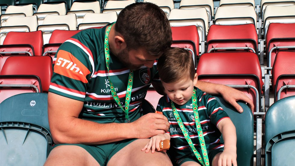Harry and Oscar were a big part of the Inclusion Day at Welford Road