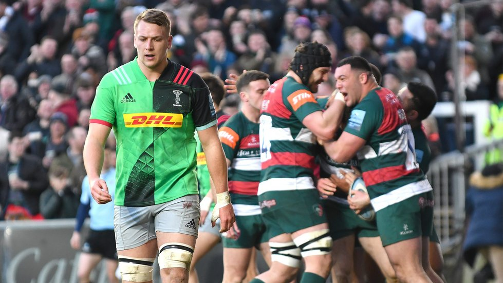 Tigers won the meeting with Harlequins at Welford Road in the 2018/19 season