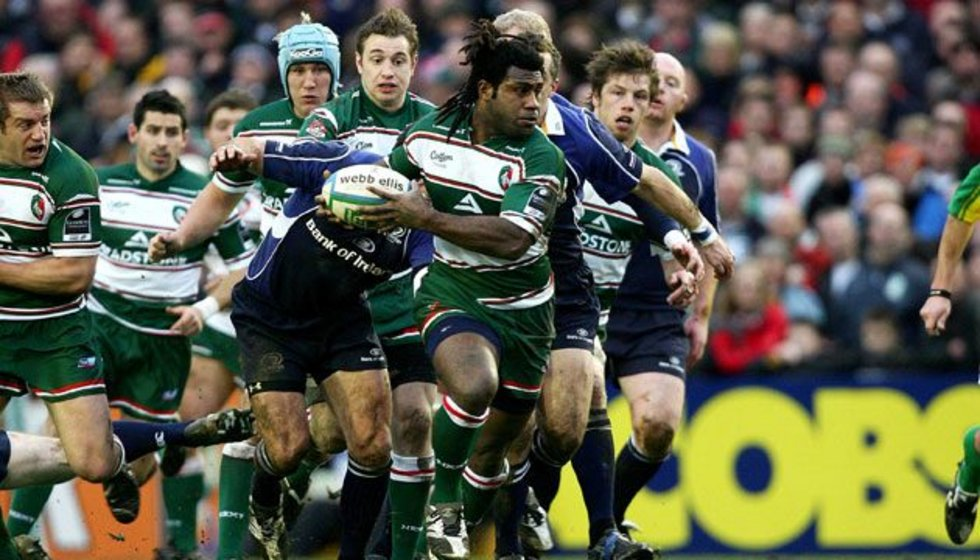 Seru Rabeni in action for Tigers, on the attack in a European Cup tie against Leinster