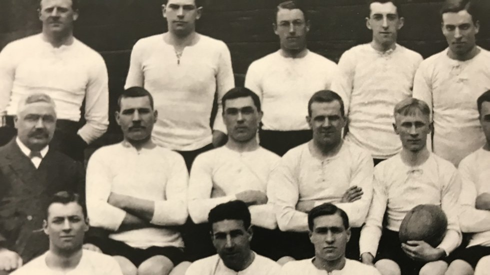 Tom Crumbie (far left, middle row) was the driving force at the club for more than 30 years