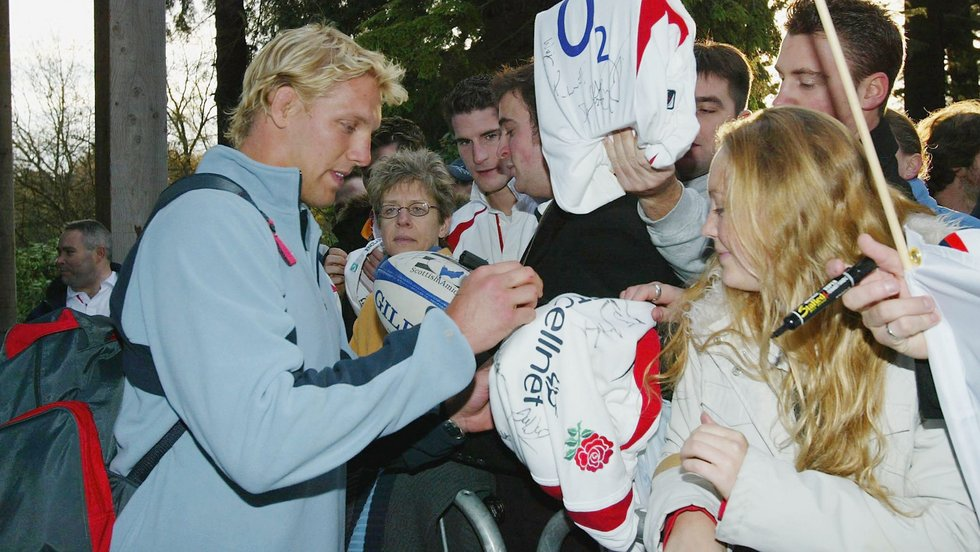 Lewis Moody was among the seven Tigers to return home as a World Cup winner in 2003