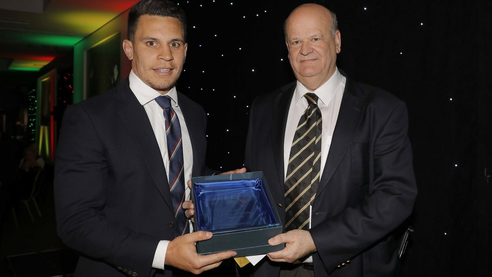 Matt Toomua was the supporters' choice as Player of the Season in 2017/18
