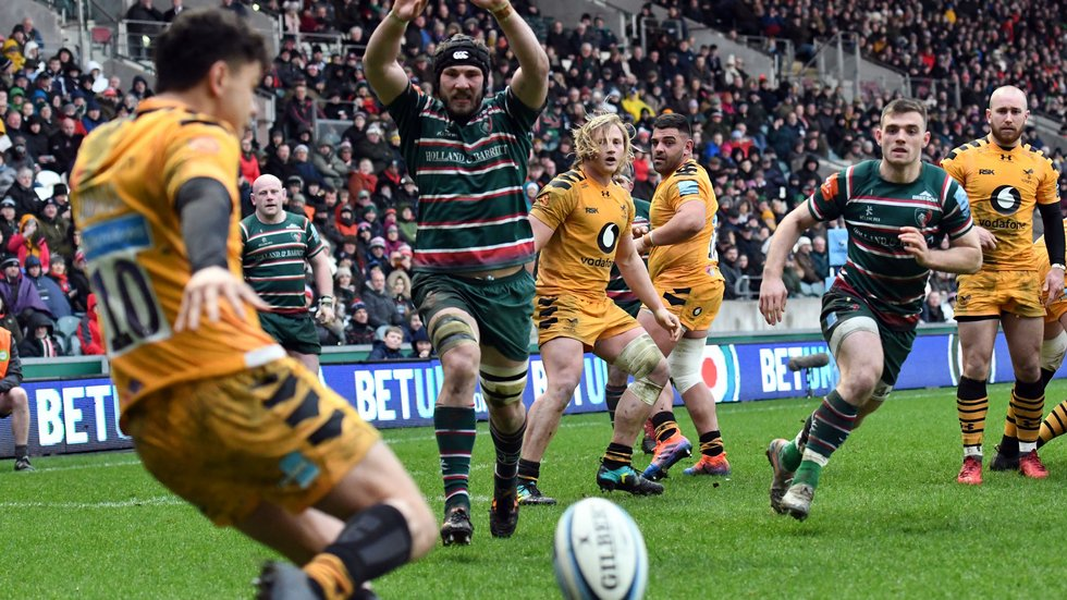 Tigers won the first meeting with Wasps at Welford Road before lockdown