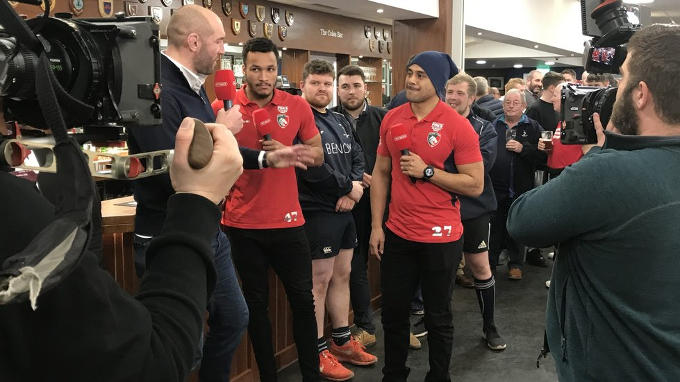 Jordan Olowofela and Telusa Veainu were both at Newark RFC earlier this year for an episode of BT Sport's Rugby Tonight.