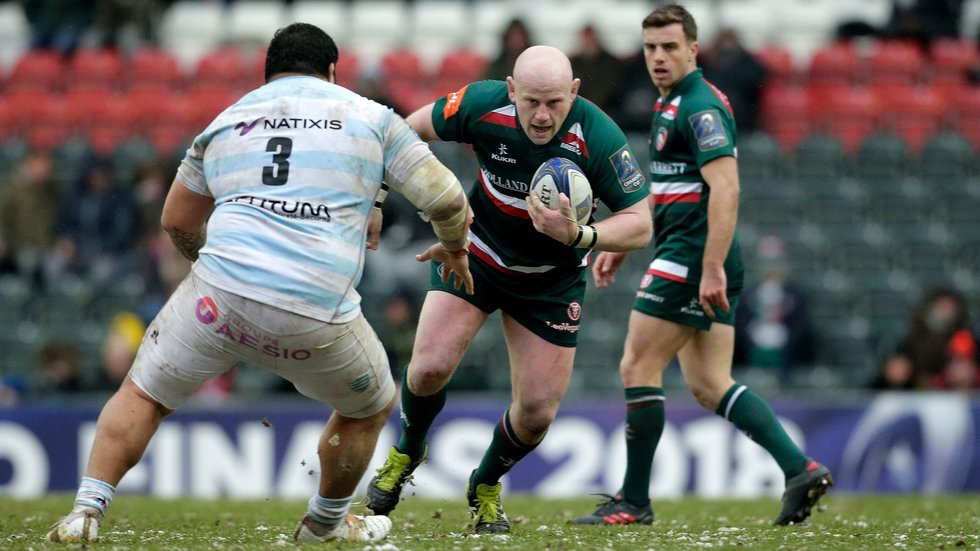 Dan Cole made his 50th European Cup appearance against Racing