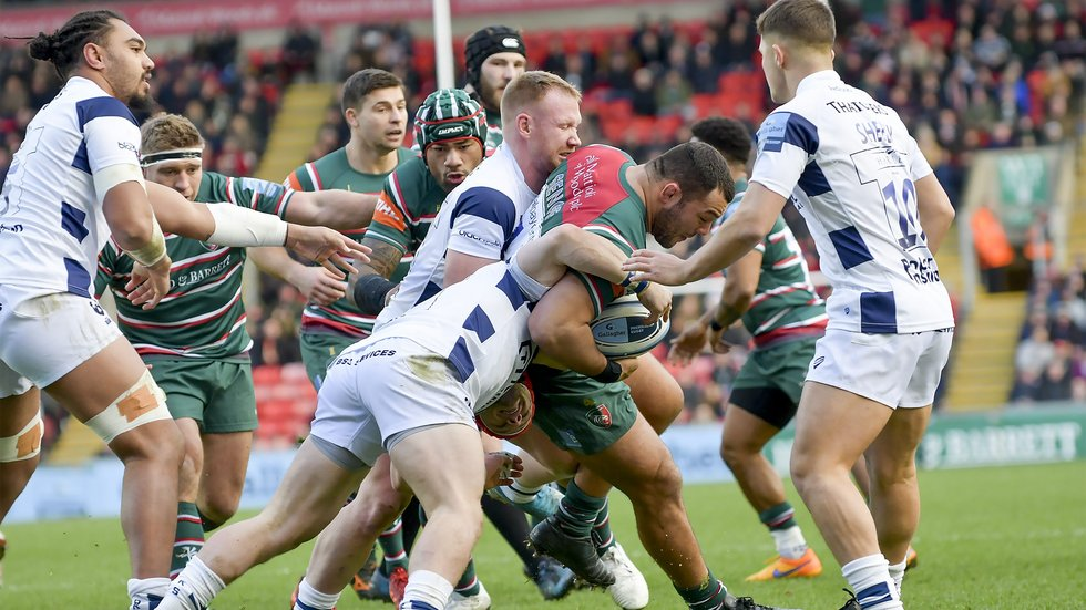 Ellis Genge wraps up the Bears defence in the first meeting this season