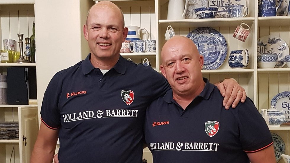 Fritz van Heerden and Martin Whitcombe are supporting their sons during the Under-18 International Series