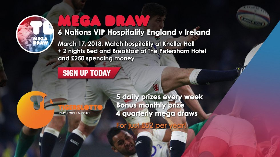 Sign up to the TigersLotto ahead of Friday's Mega Draw