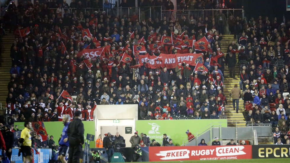 Munster fans travel in large numbers for their big games in Europe