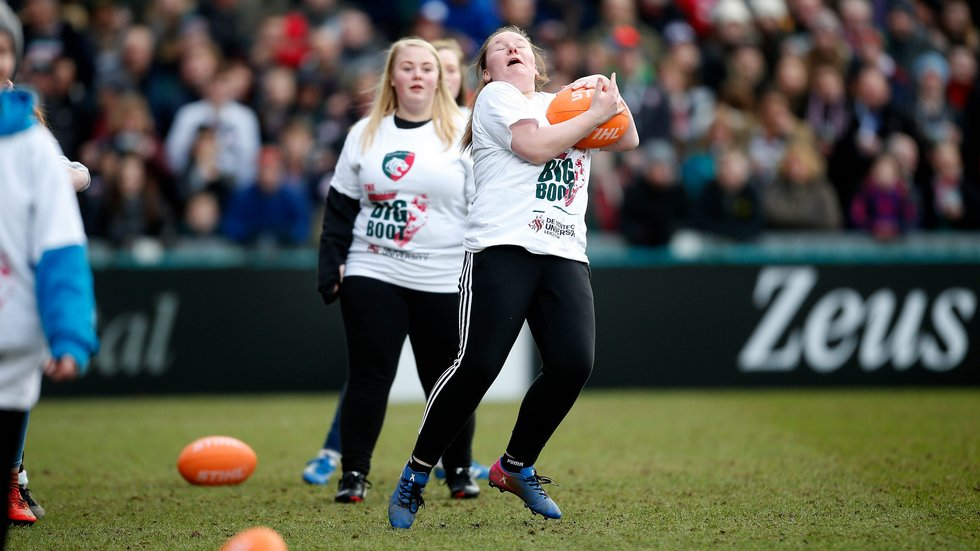 A catch for the team from East Bergholt School in Saturday's Ultimate Big Boot