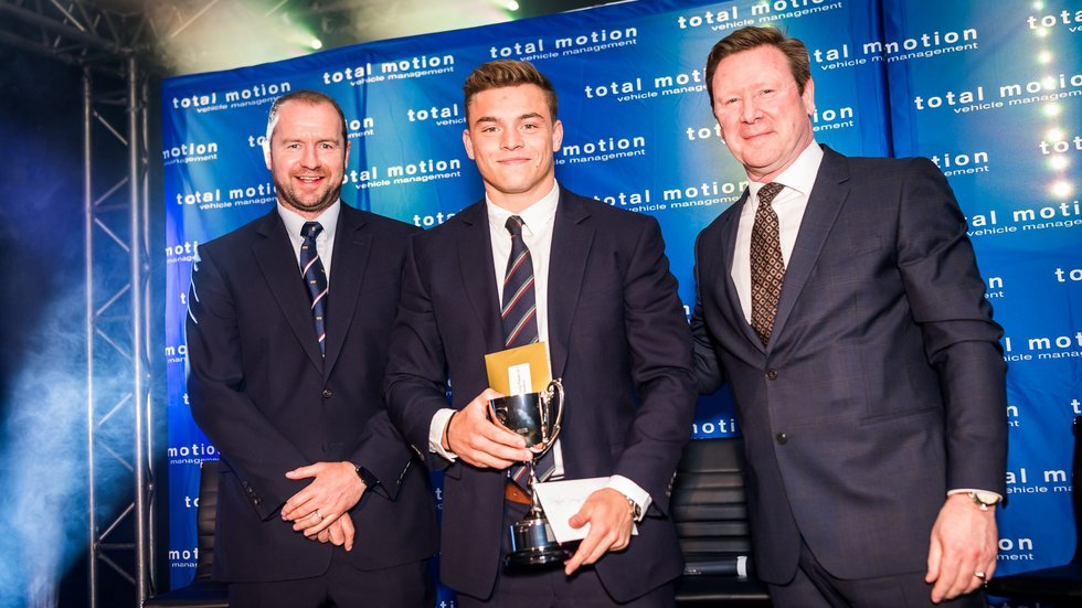 Scrum-half Harry Simmons was voted the Players' Young Player of the Year
