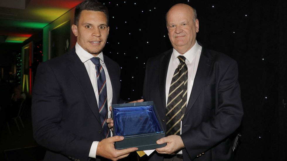 Matt Toomua was presented with the Player of the Year award by #TigersFamily Award winner Ian Smith