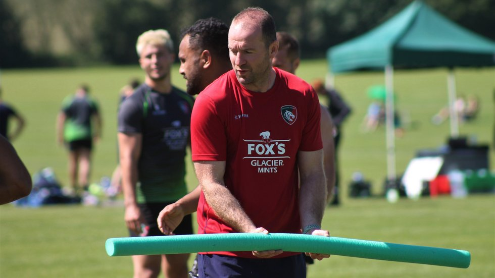Geordan Murphy working with Tigers players during the 2019/20 pre-season programme