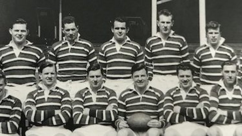 Brian Smith (pictured: back row, centre) made more than 50 appearances for the Tigers in the 1950s