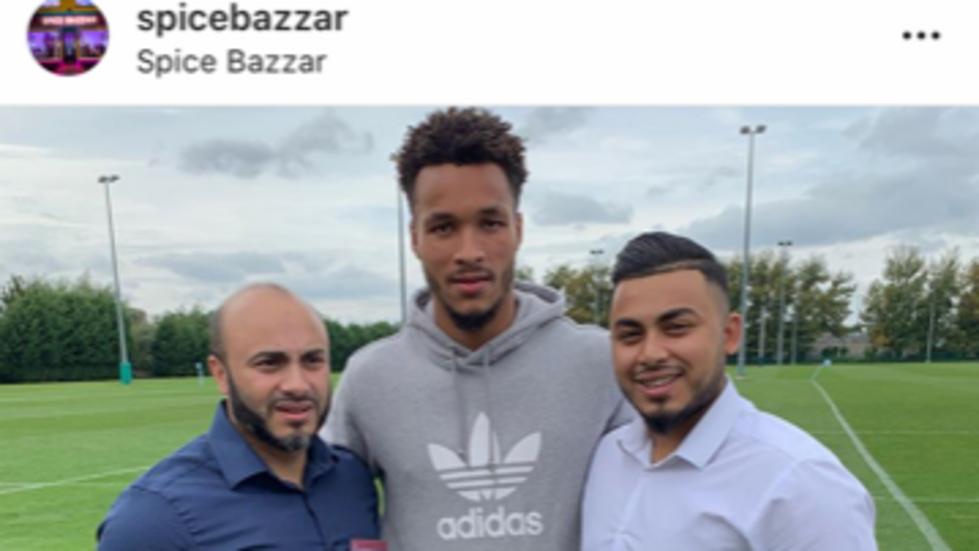 Spice Bazzar are player sponsors of Tigers wing Jordan Olowofela and team manager Teresa Carrington