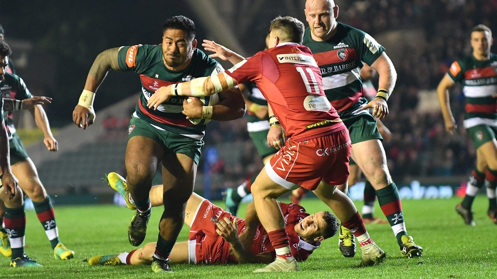 Manu Tuilagi helped to swing the game against Scarlets in Tigers' favour earlier this season