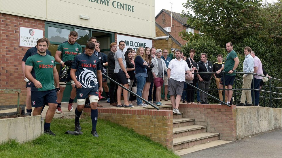 Player sponsors enjoy a look behind the scenes in the build-up to the new season