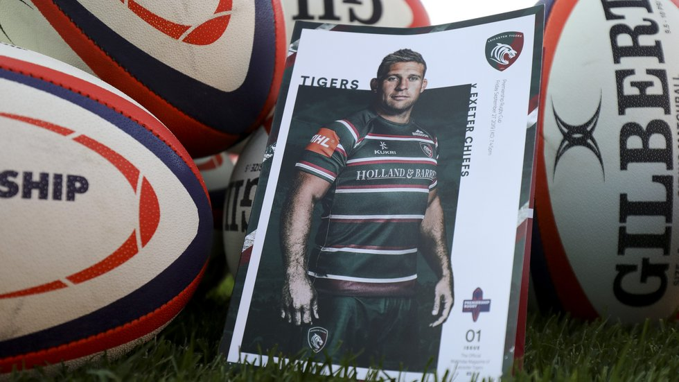 A new more convenient size for the matchday programme at Welford Road