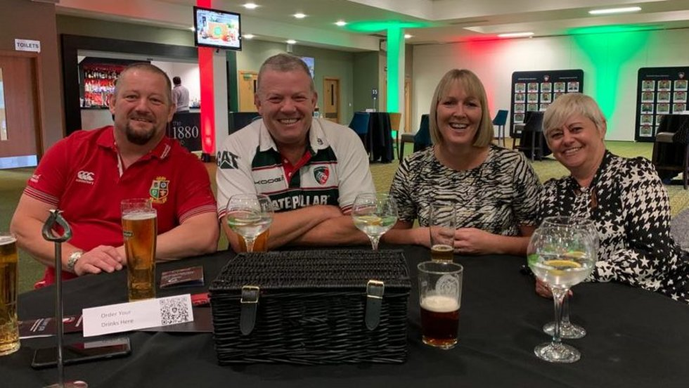 Fans returned to Welford Road for the first time since February on Sunday...