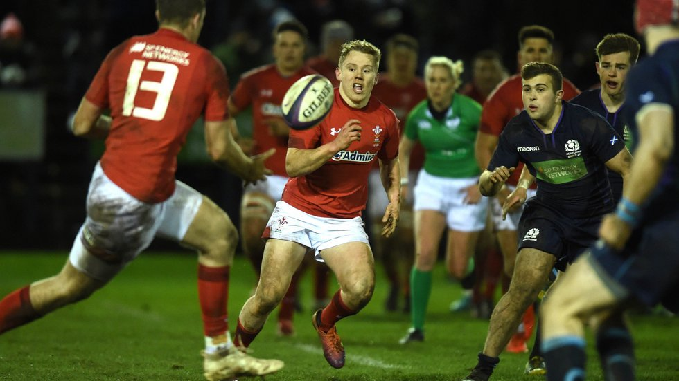 Sam Costelow has been capped at two age levels by Wales in the last two seasons