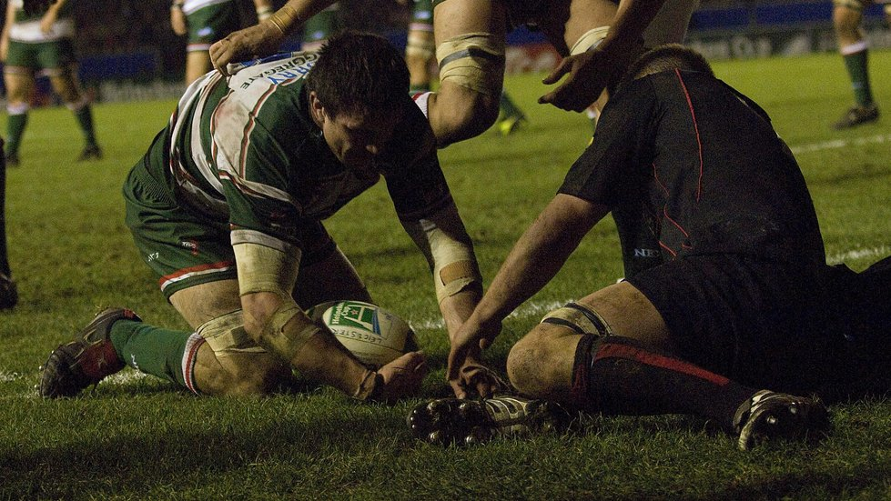 Martin Corry marked his 250th appearance with a European Cup try against Edinburgh