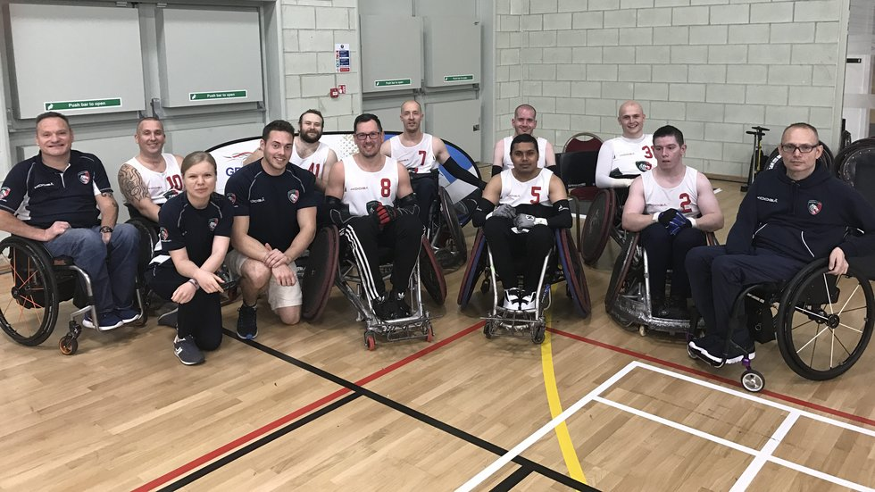 Leicester Tigers Wheelchair Rugby Team and coaches