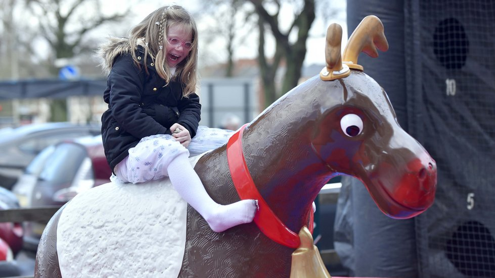 The reindeer rodeo had its fans too on matchday