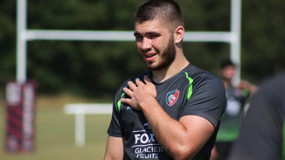 George Martin takes a place in the second row after training with England U20s.