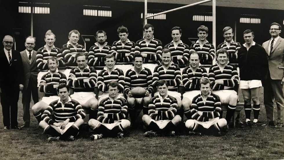 David Matthews (centre, with ball) had an association with the club dating back almost 65 years