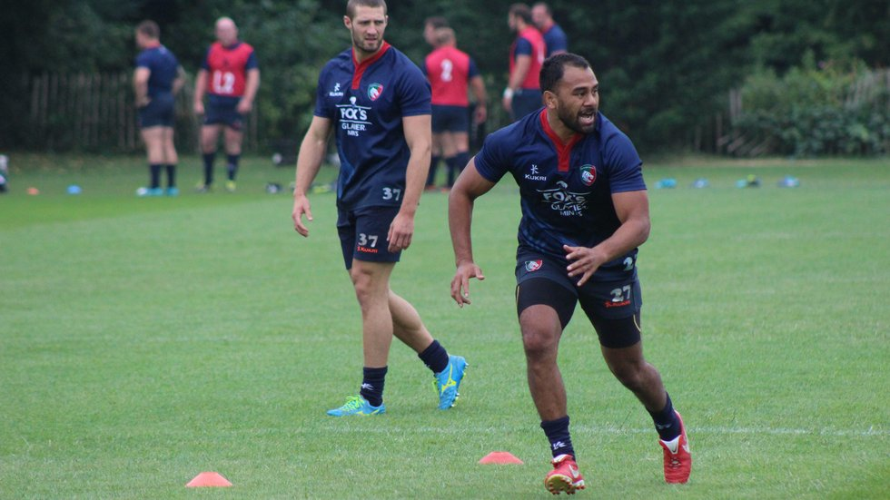 Telusa Veainu on the move during pre-season at the club's Oval Park Training Ground.
