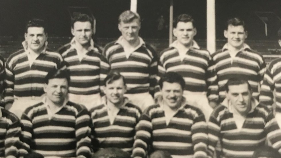 Leighton Jenkins (fair hair, back row) was a Wales international who taught at Oakham before a successful career in the RAF
