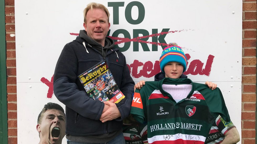 Jonah and his dad Declan enjoyed a tour of Oval Park