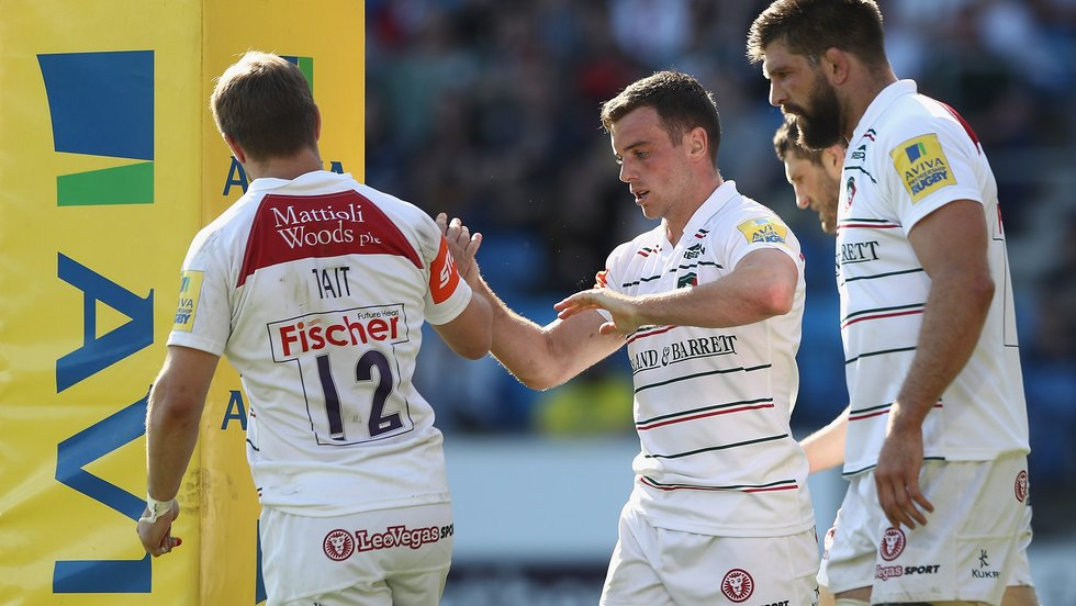 Congratulations for tryscorer Ford as Tigers claimed a bonus-point win over Sale Sharks
