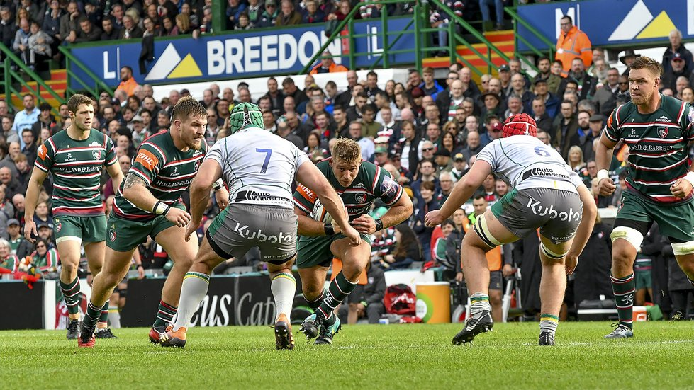Tigers hosted Northampton at Welford Road in the Premiership Rugby Cup in October.