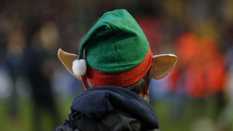 Santa's helper or a member of the matchday photographty team?