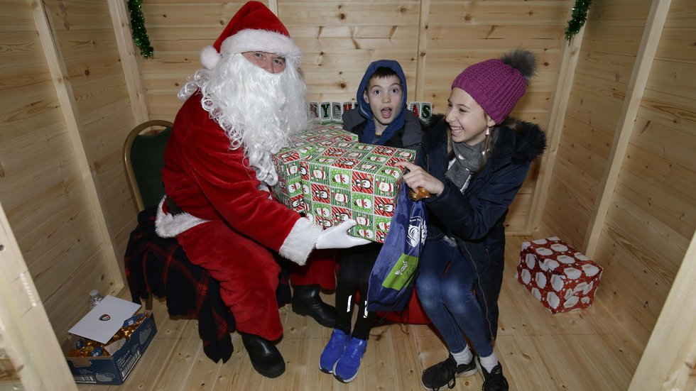 The Junior Tigers Club featured a visit from Santa for the last home game before Christmas